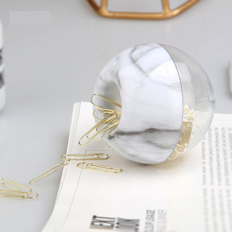 Oliver Spence Marble Apple Desktop Paper Clip Dispenser6