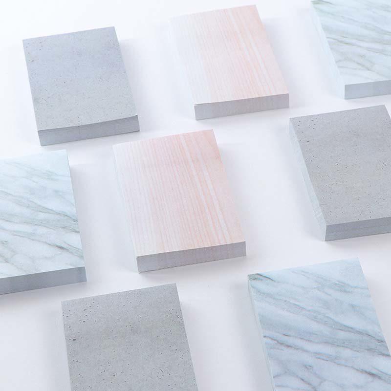 3 Sets of Marble Oversized Sticky Notes 3