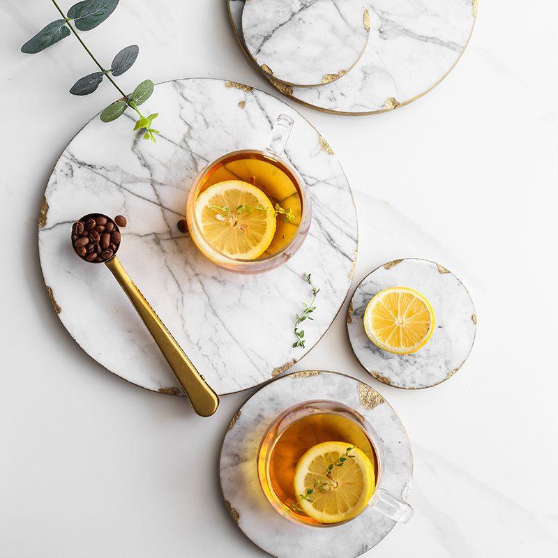 Luxurious Marble & Gold Platter 2